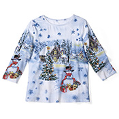 Christmas in Snowy Woods Sequin Holiday Top - 95593