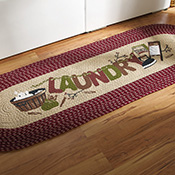 Vintage Laundry Room Decorative Braided Runner - 95617