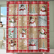 Snow Time Country Snowman Shower Curtain