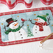 Snow Time Holiday Snowman Bath Rug - 95643