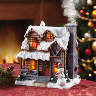 Smoking Country Christmas Cabin Incense Burner - 95700