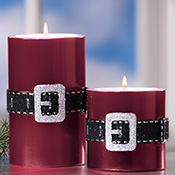 Santa Belt Candles Holiday Gift Set