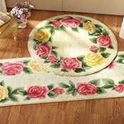 Victorian Rose Trim Accent Rugs