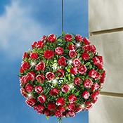 Solar Lighted Topiary Rose Ball