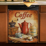 Vintage Coffee Dishwasher Cover