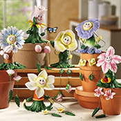 Fancy Flower Collectible Sitters