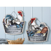 Roosters in Washtubs Decorative Laundry Signs