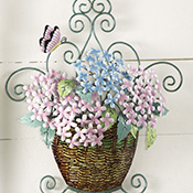 Lilac Basket 3D Metal Wall Decor