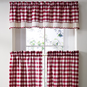 Primitive Buffalo Checkered Cafe Curtain Set
