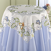 Butterfly Embroidered Table Linens