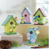 4-pc. Birdhouse Collectible Trinket Boxes