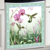 Spring Melody Hummingbird Dishwasher Cover