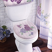 Lilac & Butterflies Bathroom Commode Set