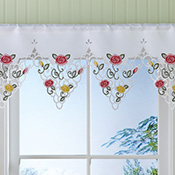 Pastel Rose Bathroom Window Valance