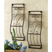 Decorative Garden Metal Wall Trellis Set