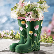 Rainboots Decorative Garden Planter