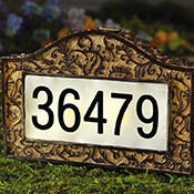 Decorative Solar Address Marker Garden Stake