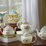 6-pc. Miniature Collectible Floral Tea Set
