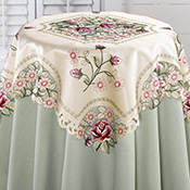 Embroidered Rose Decorative Table Linens
