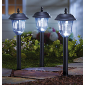 Finial Lantern Solar Pathway Markers - Set of 3