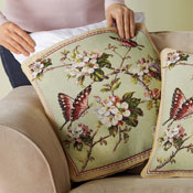 Floral Butterfly Tapestry Pillow Covers