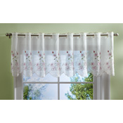 Sheer Rose Embroidered Window Valance