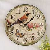 Bird Garden Decorative Wall Clock