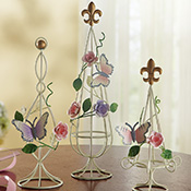 Decorative Tabletop Butterfly Garden Topiaries