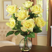 Ivory Rose Floral Bouquet with Vase