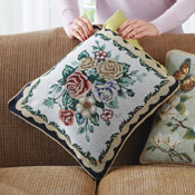 Set of 2 Double-Sided Floral Pillow Covers