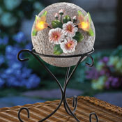 Solar Lighted Hummingbird Garden Accent Globe