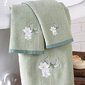 3-pc. Magnolia Bathroom Towel Set