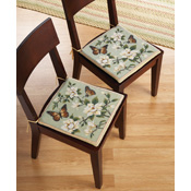 2-pc. Reversible Kitchen Chair Seat Cushions