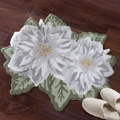 Magnolia Blossom Shaped Accent Rug
