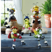 Set of 5 Garden Bug Collectible Sitters