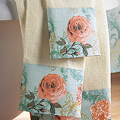 3-pc. Vintage Floral Cotton Towel Set
