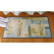 Blue Waters Beach Bathroom Mat