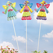 Trio of Angel Garden Fairy Stakes