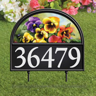 Four Seasons Address Marker Garden Stake