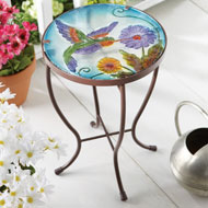 Hummingbird Garden Patio Accent Table