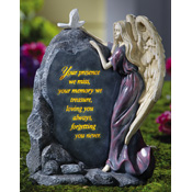 Precious Angel Lighted Memorial Stone - 96127