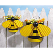 Set of 2 Bumblebee Outdoor Garden Wall Planters