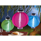 Colorful Hanging Outdoor Solar Lanterns Set of 3