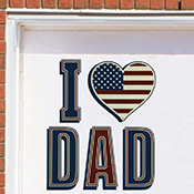 I Love Dad Patriotic Garage Door Magnet Set