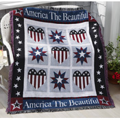 My Country America the Beautiful Patriotic Tapestry Throw