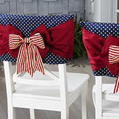 Americana Bow Chair Back Set of 2