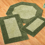Frisse Two Tone Shag Accent Rugs