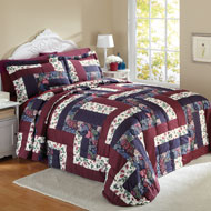 Caledonia Quilted Patchwork Bedspread - 96347