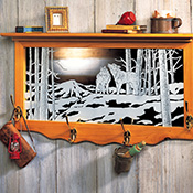 Nature's Etched Glass Wolf Storage Shelf - 96375