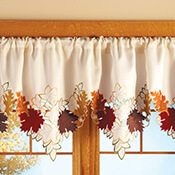 Maple Leaf Decorative Fall Window Valance - 96401